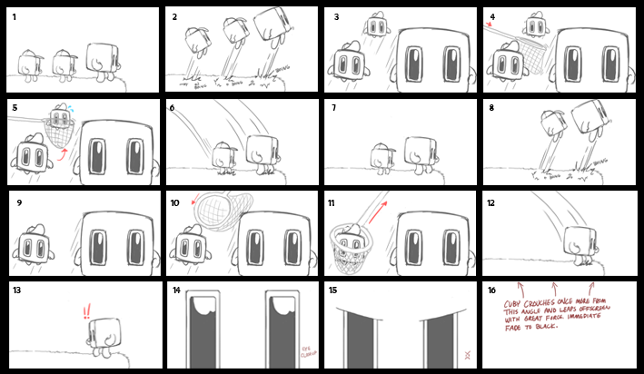 cuby's quest trailer storyboard